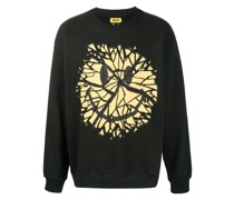 "Sweatshirt mit ""Glass Smiley""-Print"