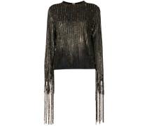 sequined fringe blouse