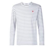 Gestreiftes Langarmshirt mit Logo-Stickerei