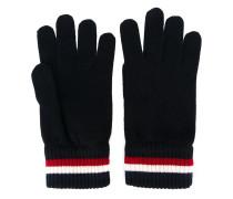 Handschuhe mit gestreifter Borte