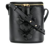 appliqué flower bucket bag
