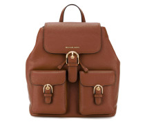 - buckled backpack - women - Leder - Einheitsgröße