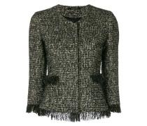 Tweed-Jacke mit Fransensaum