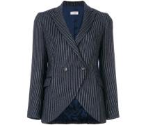 striped fitted blazer