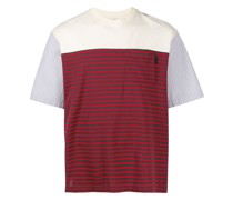 T-Shirt mit gestreiften Einsätzen