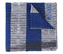 Schal mit Trompe-L'œil-Print