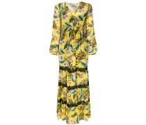 floral flared maxi dress