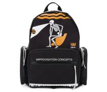 printed skeleton backpack