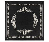 Bats print cotton scarf