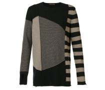 Pullover mit kontrastierenden Einsätzen