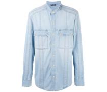Jeanshemd ohne Kragen - men - Baumwolle - 41