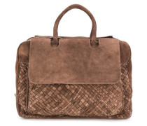 weave-detail holdall