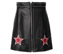 embellished star mini skirt