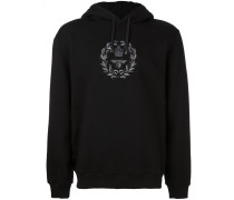 bee and crown embroidered hoodie