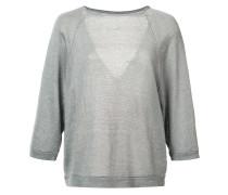 Pullover mit V-Rückenausschnitt