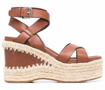 Sandalen mit Wedge aus Bast