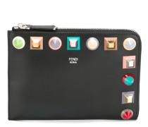- Portemonnaie mit bunten Nieten - women - Leder