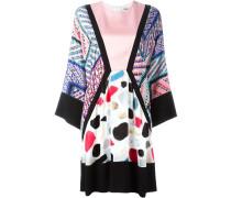 Seidenkleid mit Kimono-Ärmeln