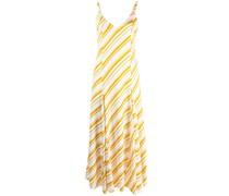 Diagonal gestreiftes A-Linien-Kleid