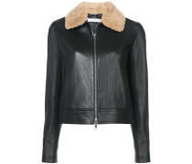 jacket with fur collar
