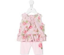 Kleiderset mit Rosen-Print - kids - Baumwolle