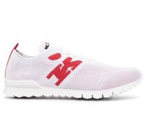 Sneakers mit Intarsien-Logo