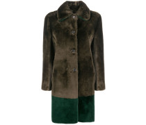 sheepskin button-up coat