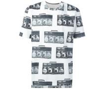 T-Shirt mit Radio-Print