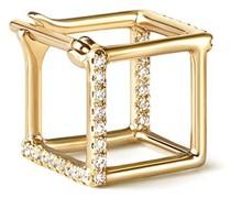 Quadratischer Ohrring mit Diamanten