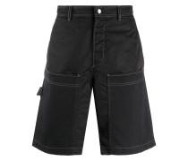 Shorts aus Gabardine