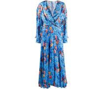 Geblümtes Kleid mit Drapierung