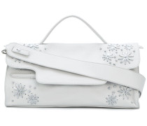 embroidered flower shoulder bag
