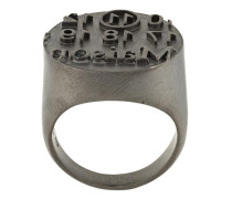 logo embossed signet ring