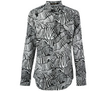 Hemd mit Zebra-Print - men - Baumwolle/Seide