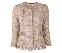 fitted woven blazer - women
