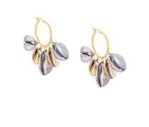 Ohrringe mit Metallic-Muscheln
