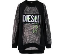 Netz-Sweatshirt mit Logo-Patch