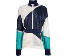 contrast belted bomber jacket