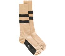 Gestreifte Socken - women - Seide/Nylon - M
