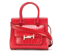 Double T croc embossed tote