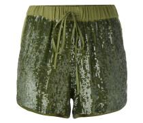sequin embellished shorts - women - Viskose/PVC