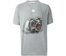 T-Shirt mit Pavian-Print
