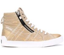 High-Top-Sneakers im Metallic-Look