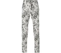 Anzughose mit Blumen-Print - men