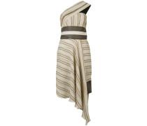 Asymmetrisches Kleid mit Streifen