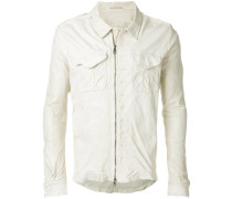 chest pockets leather jacket