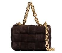The Chain Cassette suede shoulder bag