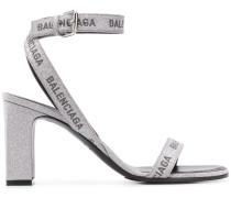 Sandalen mit Logo-Print, 80mm