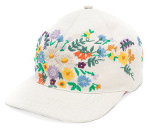 floral-embroidered cap