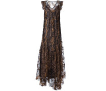 Kleid mit Tülllage - women - Polyester/Nylon - 4